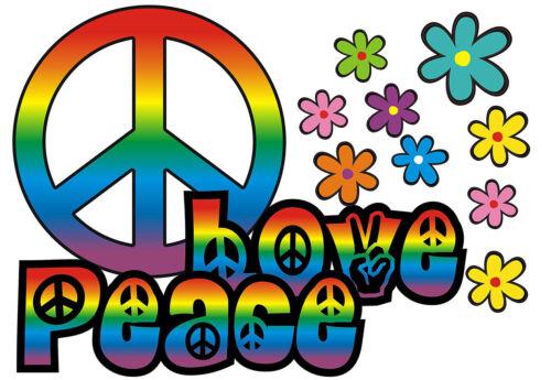 Love/&Peace 11-Rainbow Blumen Aufkleber Hippie Blumen Autoaufkleber Flower Power