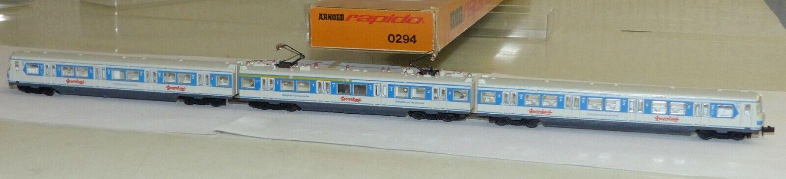Arnold 0294 S-Bahn triebzug et 420 doornkaat 3 pzas. pista n 1 160 OVP muy bien