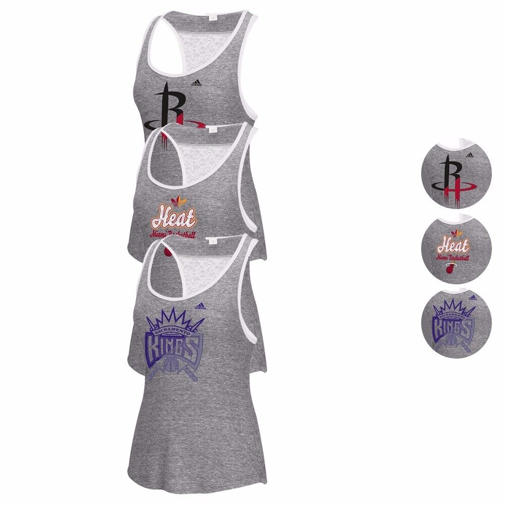 """Collection de débardeurs avec logo de la meilleure qualité \""""Lace Back\"""" de la NBA Adidas - Femmes"""