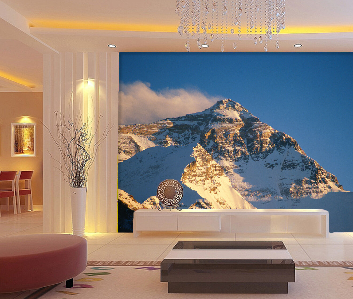 3D Der höchste Berg 875 Fototapeten Wandbild Fototapete BildTapete Familie