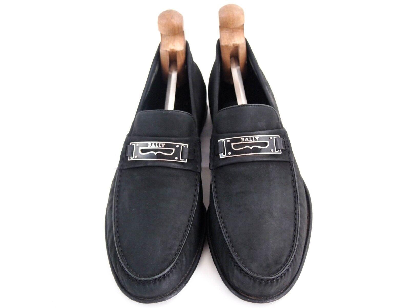 BALLY moccasin,schwarz US suede, men's shoe Größe US moccasin,schwarz 9 EU 42 420 bbec2b