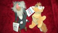 Disney Store Bean Bag Lion King Rafiki And Oliver Set Of 2 With Tags
