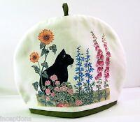 Alice's Cottage Cotton Tea Cozy Black Cat Garden -