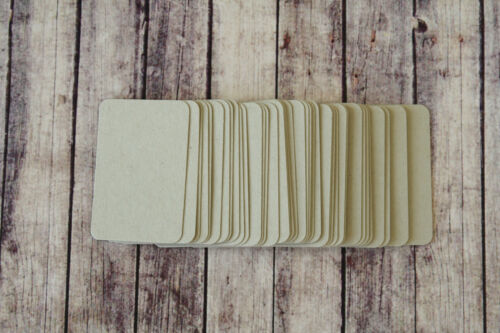 Country RUSTIC MINI Business Cards 50pc blank DIY escort cards craft name cards