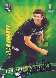 ✺Signed✺ 2015 2016 AUSTRALIAN Cricket Card SEAN ABBOTT Big Bash Sydney Sixers