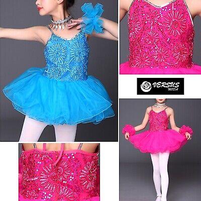Perseverando Vestito Tutù Saggio Danza Bambina Paillettes Girl Ballet Tutu Dress Danc128 Vendite Economiche