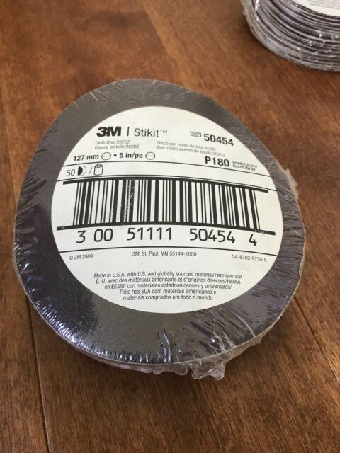 3M 01222 Red Abrasive Hookit Sanding Disc 6 Inch P180 Grit 50 Discs//Box