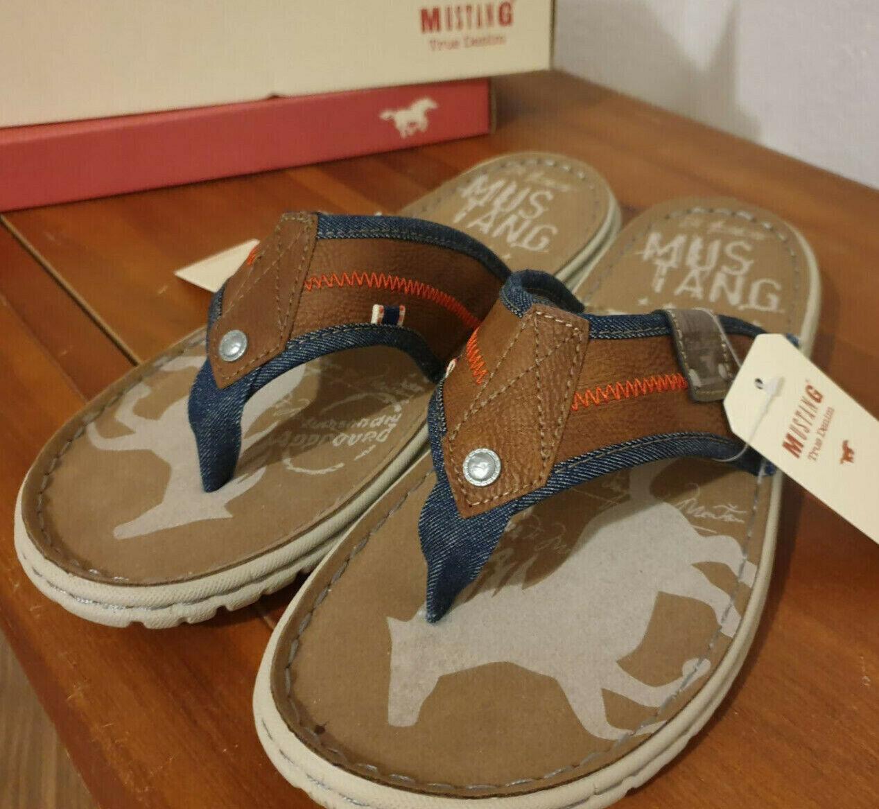 NEW Mustang Men's Shoes Size 41 EU, Mules Brown Cognac.