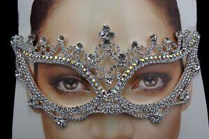 New Eye Mask Crystal Rhinestone Royal Venetian Masquerade Wedding Prom Party