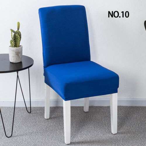 New Elastic Chair Cover Stretch Seat Slipcover Dining Hoom Wedding Party Decor .