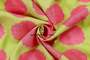 Pink-Indian-Dressmaking-Material-Rayon-Fabric-44-Wide-Craft-Sewing-By-The-Metre
