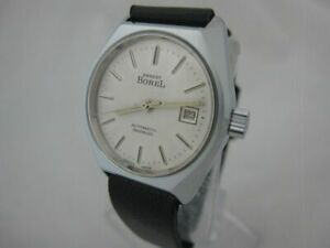 NOS NEW VINTAGE SWISS WATER RESIST DATE AUTOMATIC ERNEST BOREL WOMENS WATCH 1960