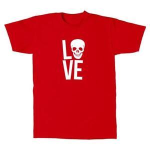 Herren-T-Shirt-LOVE-Skull-Totenkopf-Design-Style