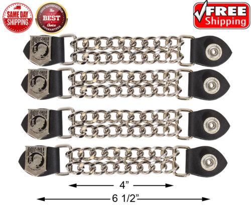 """MIA Double Diamond Cut Chrome Chain Vest Extender 6 1//2/"""" POW 4 Pcs per Set"""
