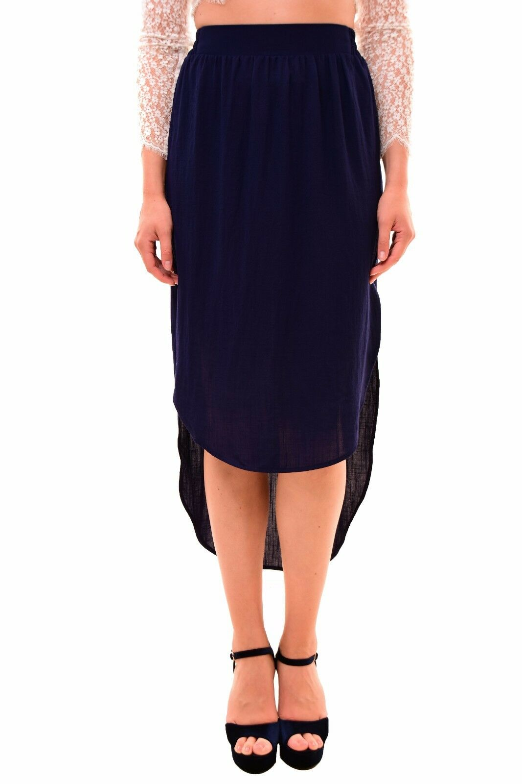 Finders Keepers Beautiful Cute Unique  Mason Skirt Navy S RRP  165 BCF710