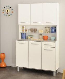 buffet buffetschrank mehrzweckschrank k chenschrank k che stauraum grau weiss ebay. Black Bedroom Furniture Sets. Home Design Ideas