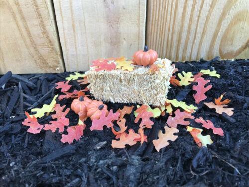 "Dollhouse Miniature Fairy Garden Autumn Fall Leaves 50 pcs Scatter Leaf 1"" OY"