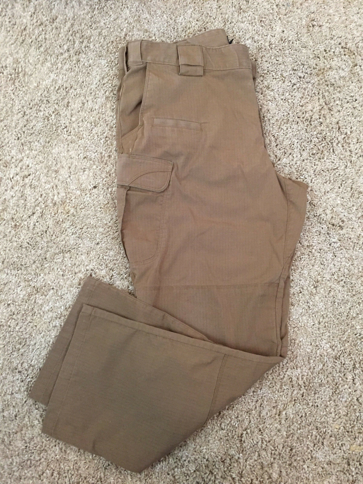 5.11 Tactical Series Khaki Brown Cargo Utility Pants 38 30 Flat Front