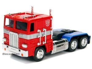 Jada-1-3-2-Trasformatore-G1-Optimus-Prime-Autobot-Automodello-Metallo-Rosso