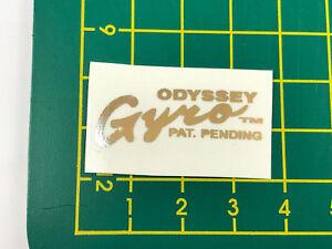 old school bmx decals stickers gen 1 odyssey gyro cup white clear