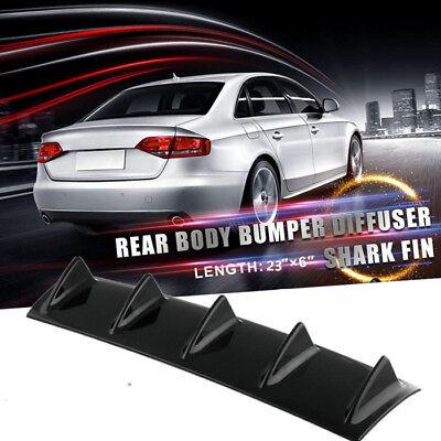Car Spoiler Car Universal ABS Chassis Shark Fin Bending Insert Rear Spoiler Bumper Diffuser Balck
