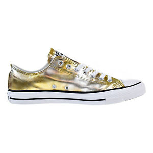 69fdeaae0c2 Details about Converse Chuck Taylor All Star OX Men s Low Top Shoes Silver Gold White  157655f