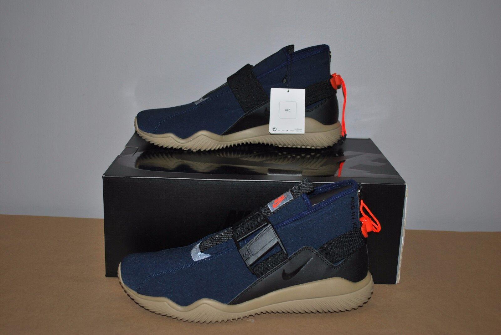 Nike nikelab / acg 07 kmtr komyuter obsidian / nikelab schwarze khaki 902776-401 - größe. 8b4f34