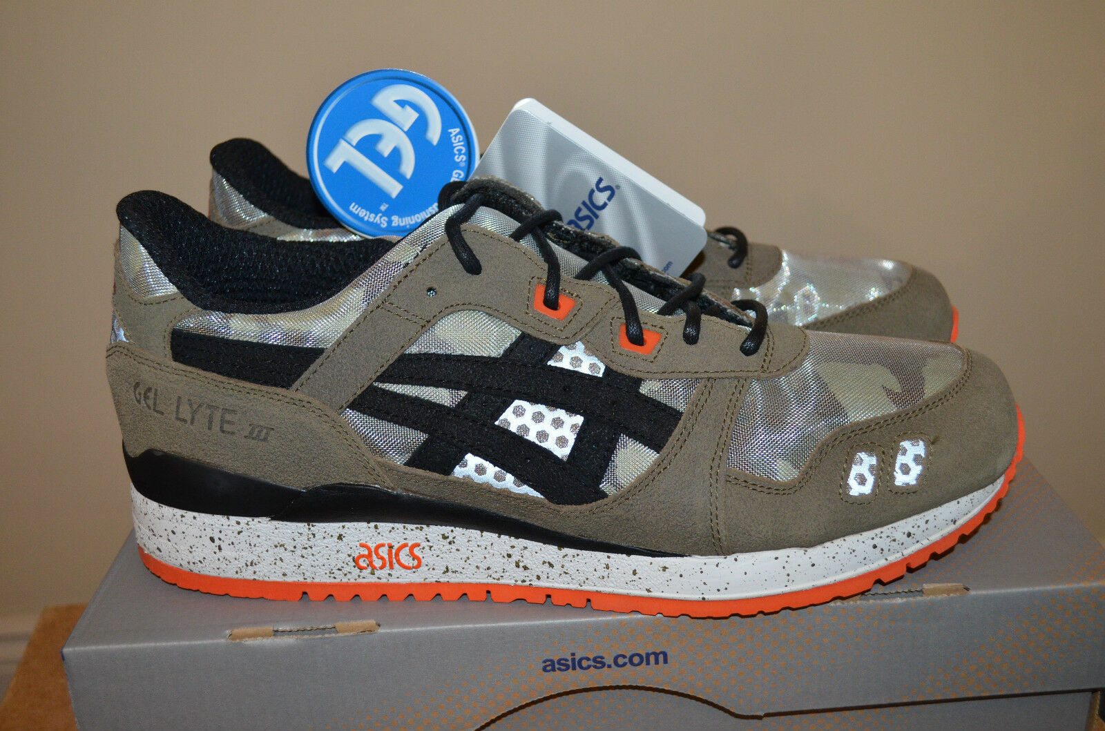 "BAIT ASICS Gel Lyte 3 III  Guardian"" Camouflage Trainers UK 10 US 11 EU 44 BNIB"