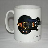 Guitar Mug. Jimmy Page's 1960 Gibson Les Paul Custom Black Beauty illustration.