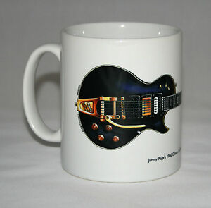 Guitarra-Taza-Jimmy-Page-039-s-1960-Gibson-las-Paul-Custom-Black-Belleza-Ilustracion