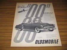1950 Print Ad Oldsmobile Futuristic 2-Door Convertible Olds Happy Couple