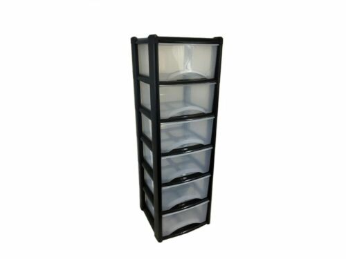 Black 6 drawer unit A4 size deep drawers books folders Back to school paper