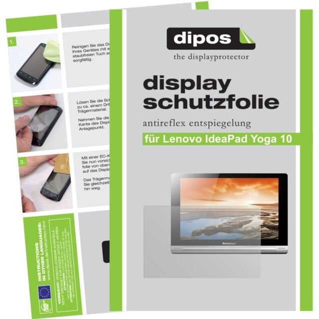 2x dipos Lenovo Yoga Tablet 10 HD+ matt Displayschutzfolie Antireflex Testsieger