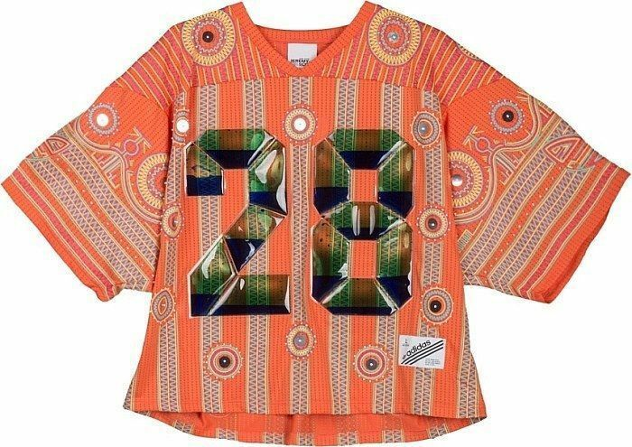 Adidas x Jeremy Scott JS Laser orange T-Shirt Very Rare Asian Release