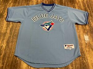 Roy Halladay Toronto Blue Jays Majestic Throwback MLB Baseball Jersey - Size 50