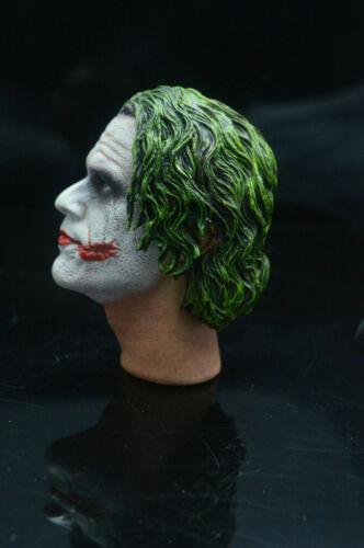 1//6 Scale Joker Heath Ledger Head Sculpt For Hot Toys Figure Body