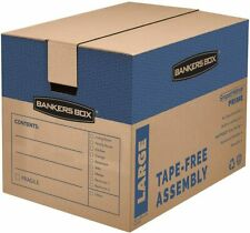 Bankers Box 0062904 Smoothmove Tape Free Moving Boxes 24x18x18 6 Pack