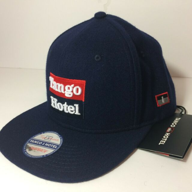 New With Tags Men's Tango Hotel Navy Blue Wool Blend SnapBack Baseball Hat Cap