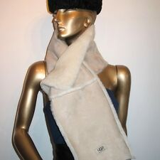 UGG SHEARLING SHEEPSKIN Scarf Stole Wraps Natural UNISEX