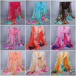 New-Fashion-Women-Ladies-Chiffon-Soft-Scarves-Long-Wraps-Shawl-Beach-Silk-Scarf