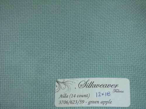 Color ZWEIGART//SILKWEAVER Hand Dyed Aida Fabric for Cross Stitch CHOOSE Count