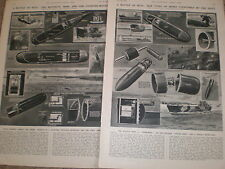 British navy and battle of wits with German mines 1946 prints and article ref Z2