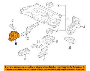 VW VOLKSWAGEN OEM 05-14 Jetta-Engine Motor Mount/Torque Strut 1J0199262DA    eBayeBay