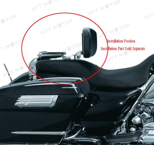 Chrom Mehrzweck Fahrer und Beifahrer Rückenlehne für Harley Touring Flh Fl