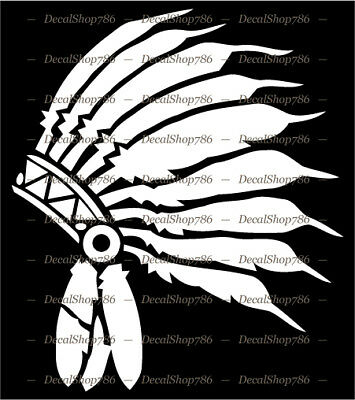 Dream Catcher Eagle Head feathers Native American sticker truck Vinyl decal