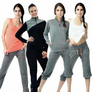 Damen-Fitnesshose-Training-Joggen-Yoga-Sportanzug-Freizeit-Sweatpants-lang-3-4