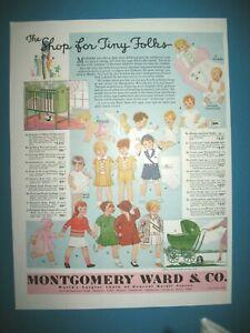 PUBLICITE-MONTGOMERY-WARD-SHOP-FOR-TINY-FOLKS-ORIGINAL-VINTAGE-PRINT-AD-1920-039-s
