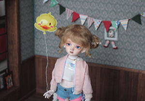 QQ-58B Carrot Red BJD Doll Mohair Wig {Dolly Planet} 1//8;1//6 ;1//4 ; 1//3