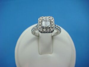 634c4de797cd40 NEIL LANE 1-3/8 CT T.W. EMERALD CUT DIAMOND HALO ENGAGEMENT RING 14K ...