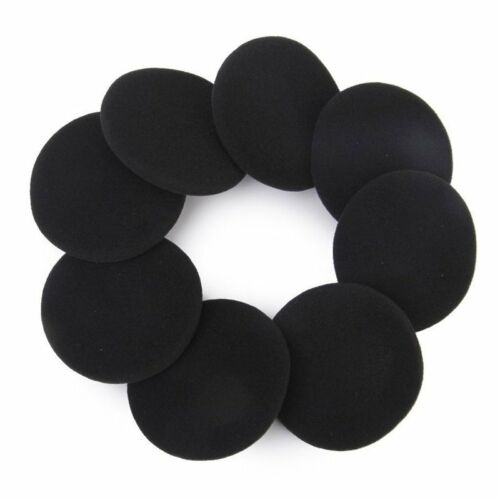 4 Pair 60mm Replacement Ear Foam Earphone Pad Covers for Headphone Black J8R1